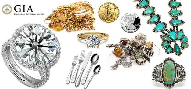 Diamonds, Gold, Native American Jewelry, Silver, Coins, Scrap Jewelry
